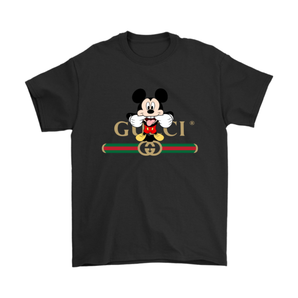 Gucci Logo Mickey Mouse Clubhouse Disney Mens T-Shirt