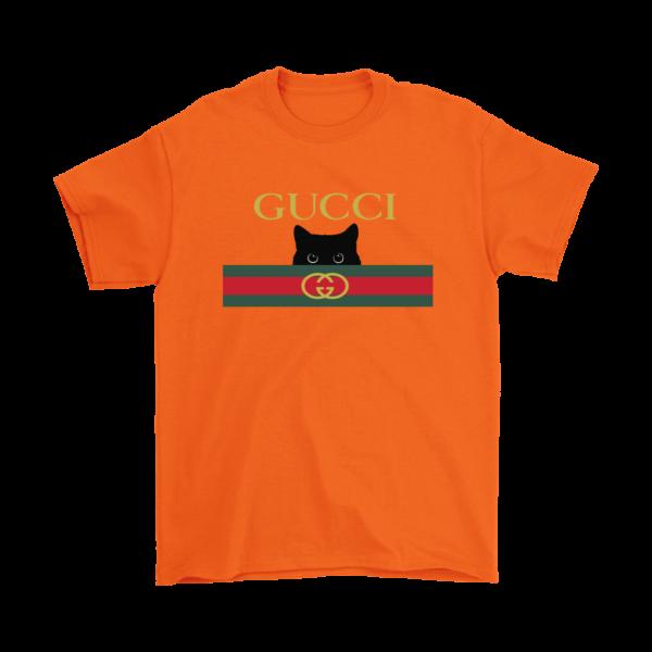 Gucci Black Cat Secret Logo Mens T-Shirt