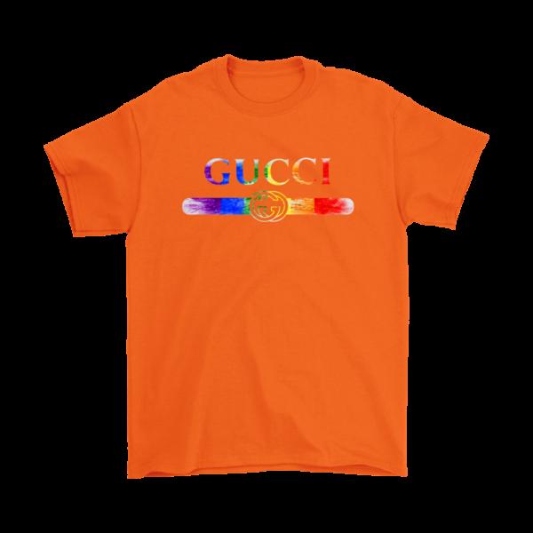 Gucci Rainbow LGBT Style Logo Limited Edition Mens T-Shirt