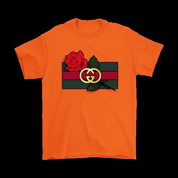 Gucci Rose Printed Mens T-Shirt