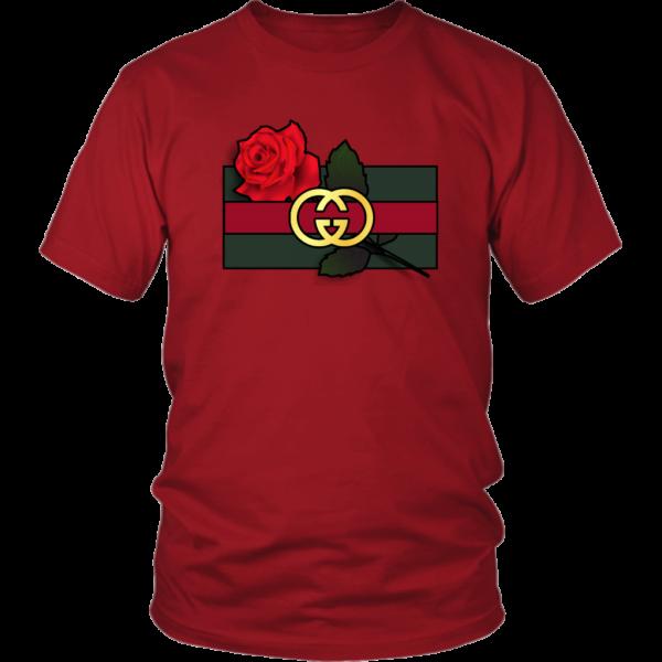 Gucci Rose Printed Unisex Shirt