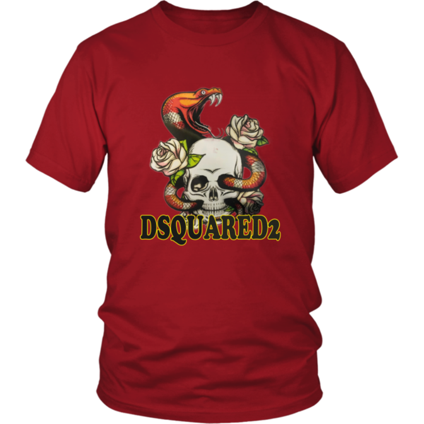 Dsquared2 Snake Skull And Rose Unisex Shirt