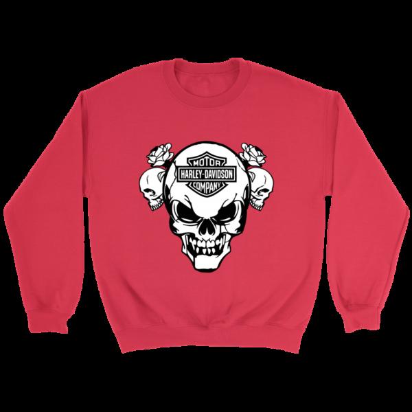 Harley Davidson Skull Crewneck Sweatshirt