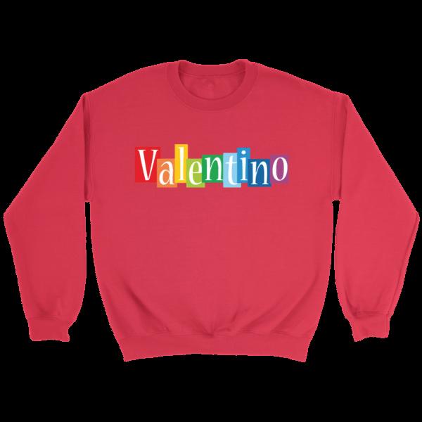 Valentino Logo Rainbow Crewneck Sweatshirt