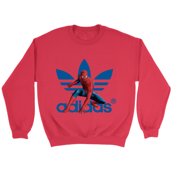 Spiderman Adidas Marvel Logo Crewneck Sweatshirt