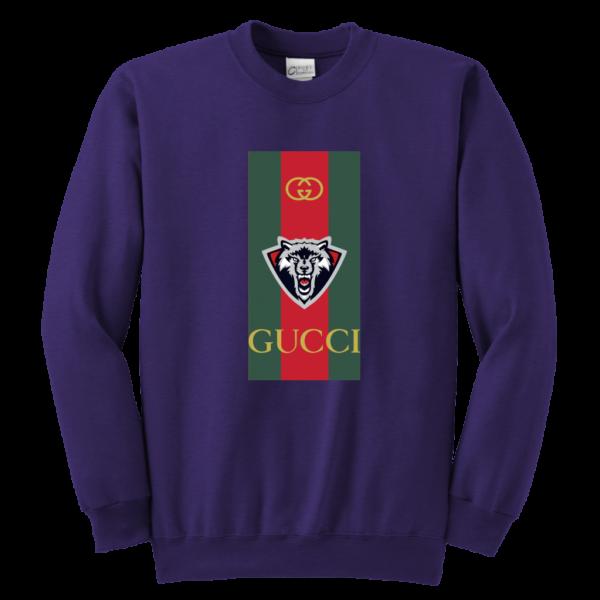 Gucci Wolf Printed Logo Limited Edition Youth Crewneck Sweatshirt