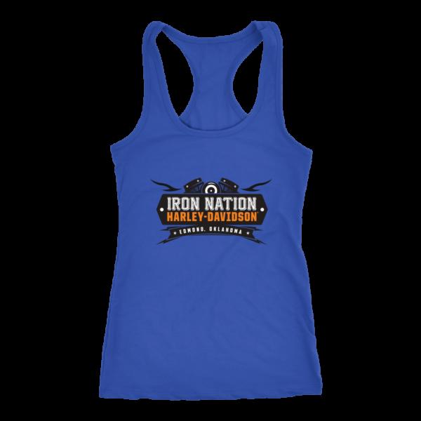 Iron Nation Harley Davidson Logo Women's Tank Top