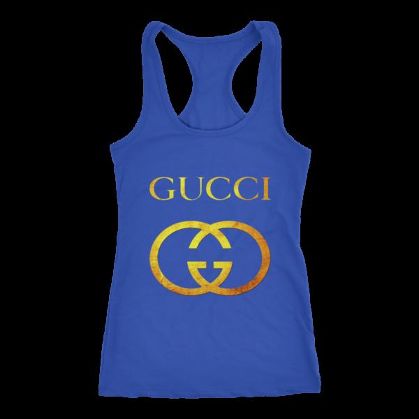 Gucci Gold Logo Women's Tank Top