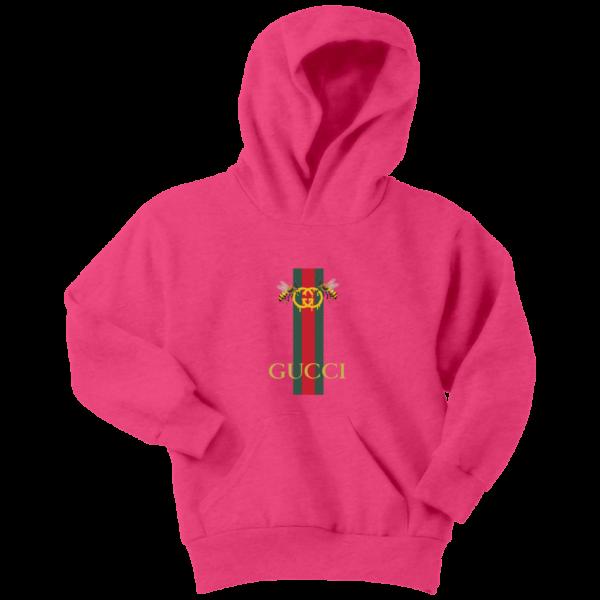 Gucci Bee Logo Drip Youth Hoodie