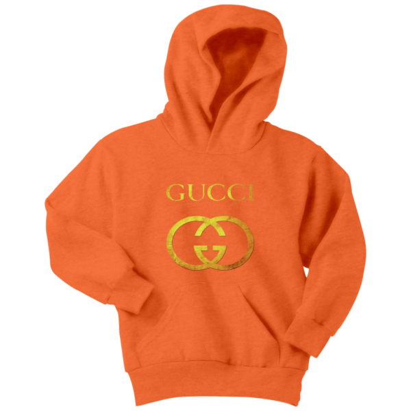 Gucci Gold Logo Youth Hoodie