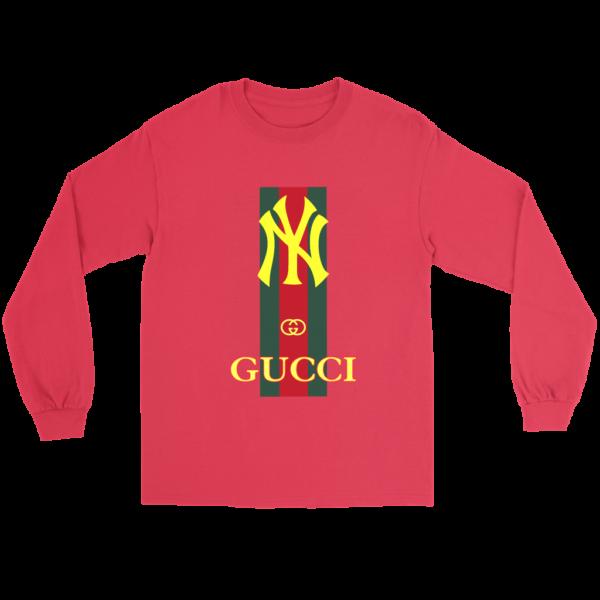 Gucci New York Yankees Long Sleeve Tee