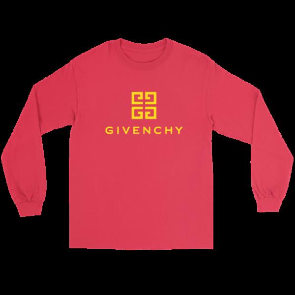 Givenchy Gold Logo Premium Long Sleeve Tee