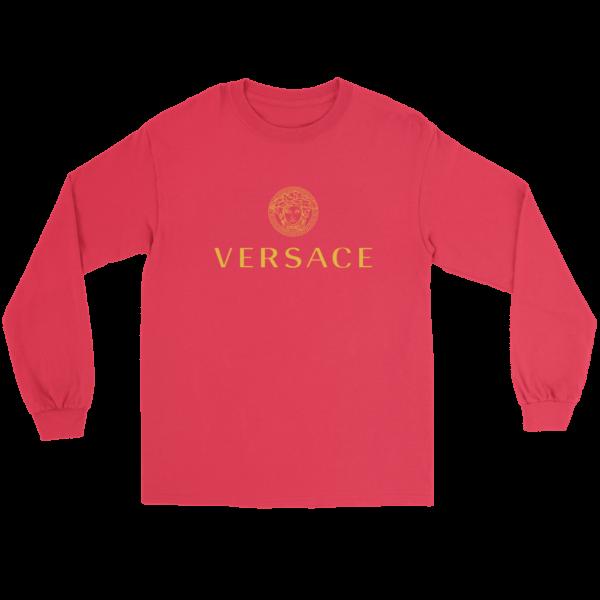 Versace Gold Logo Long Sleeve Tee