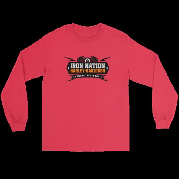 Iron Nation Harley Davidson Logo Long Sleeve Tee
