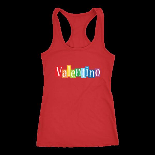 Valentino Logo Rainbow Womens Tank Top