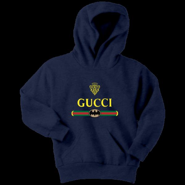 Gucci Logo With Batman Youth Hoodie