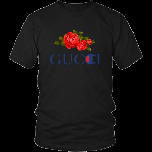 Gucci Champion Rose Unisex Shirt
