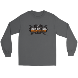 Iron Nation Harley Davidson Logo Long Sleeve Tee