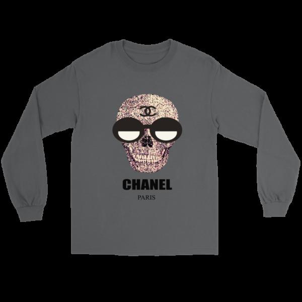 Chanel Skull Logo Long Sleeve Tee