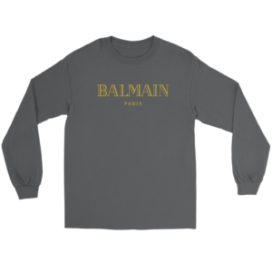 Balmain Gold Logo Long Sleeve Tee