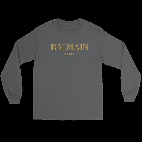Balmain Gold Logo Long Sleeve Tee
