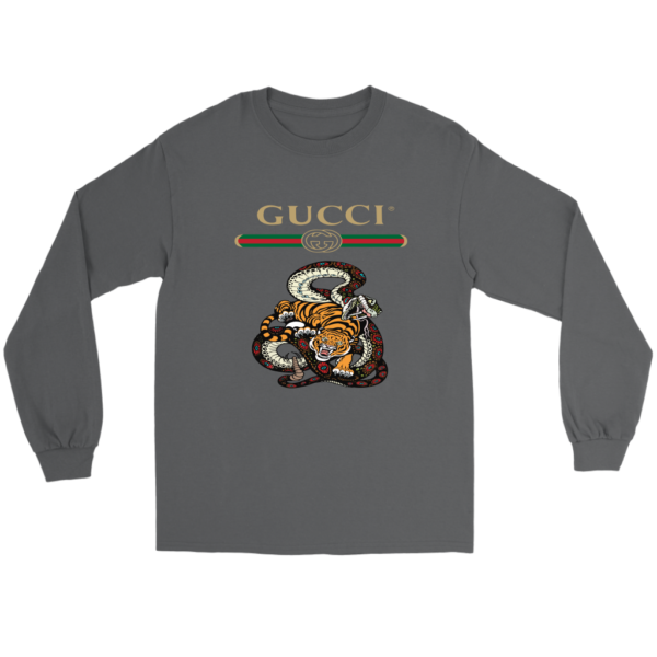 Gucci Logo Edition Tiger Vs Snake Long Sleeve Tee