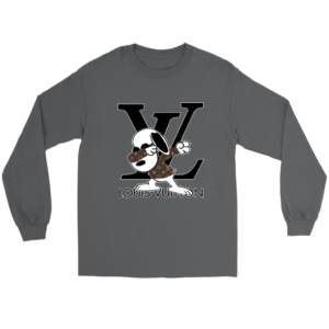 Snoopy Louis Vuitton Logo Long Sleeve Tee