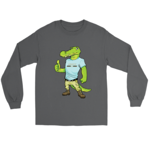 Crocodile Gucci Alligator Printed Long Sleeve Tee