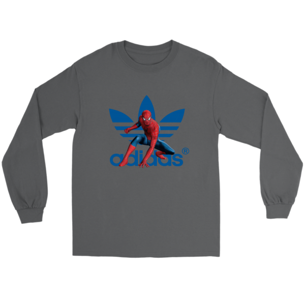 Spiderman Adidas Marvel Logo Long Sleeve Tee