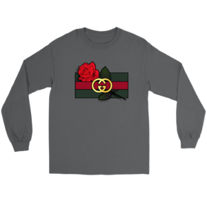 Gucci Rose Printed Long Sleeve Tee