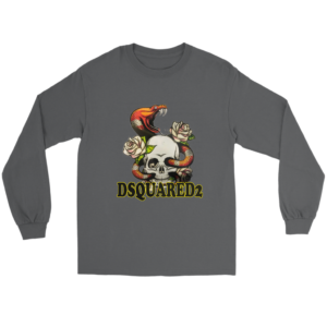 Dsquared2 Snake Skull And Rose Long Sleeve Tee
