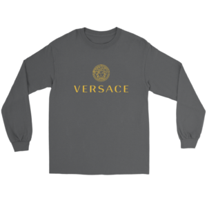 Versace Gold Logo Long Sleeve Tee