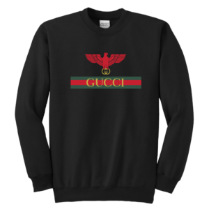 Gucci Red Eagle Bird Youth Crewneck Sweatshirt