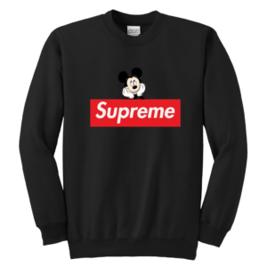 Supreme Mickey Mouse Logo Premium Youth Crewneck Sweatshirt