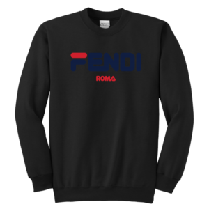 Fendi Logo Youth Crewneck Sweatshirt