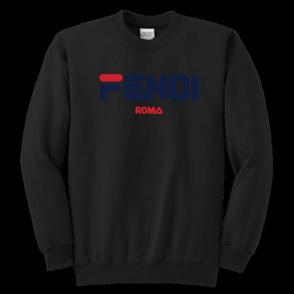 Fendi Logo Youth Crewneck Sweatshirt