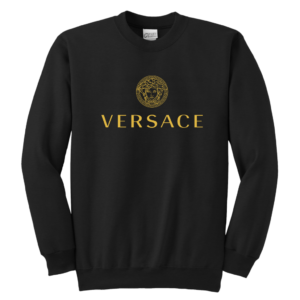 Versace Gold Logo Youth Crewneck Sweatshirt