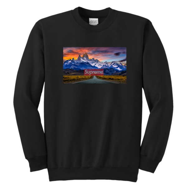 Supreme Patagonia Mountains Youth Crewneck Sweatshirt