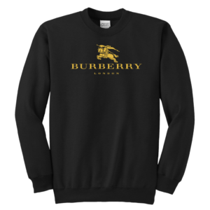 Burberry Gold Edition Logo Youth Crewneck Sweatshirt