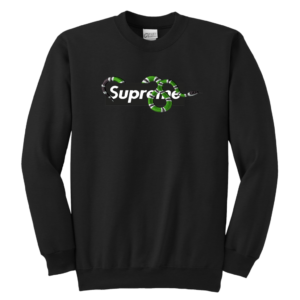 Supreme Snake Logo Limited Edition Youth Crewneck Sweatshirt