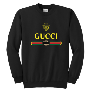 Gucci Logo With Batman Youth Crewneck Sweatshirt