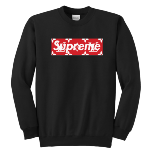 Supreme x Louis Vuitton Logo Youth Crewneck Sweatshirt