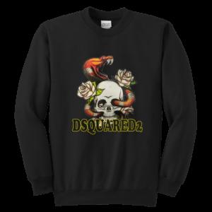 Dsquared2 Snake Skull And Rose Youth Crewneck Sweatshirt