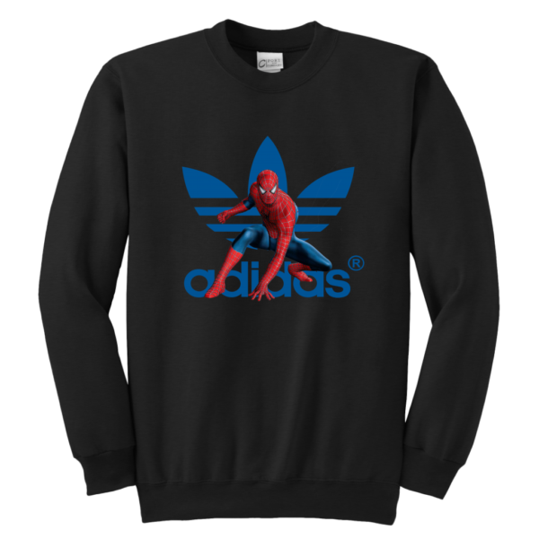 Spiderman Adidas Marvel Logo Youth Crewneck Sweatshirt