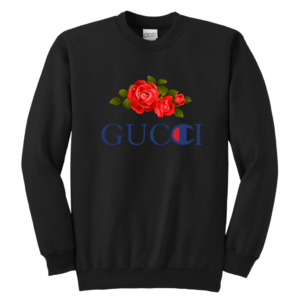 Gucci Champion Rose Youth Crewneck Sweatshirt