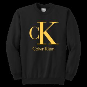 Calvin Klein Gold Logo Premium Youth Crewneck Sweatshirt