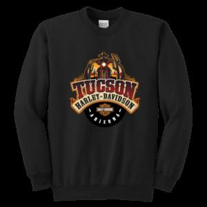 Harley Davidson Of Tucson Youth Crewneck Sweatshirt