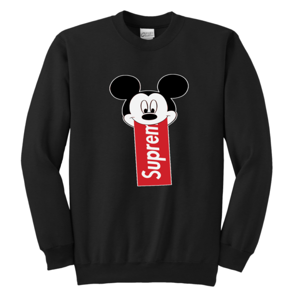 Supreme Mickey Mouse Disney Youth Crewneck Sweatshirt