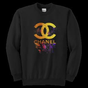 CoCo Chanel Gold Logo Limited Edition Youth Crewneck Sweatshirt