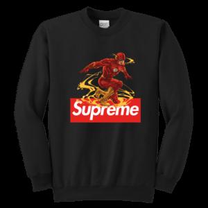 The FLASH Supreme Youth Crewneck Sweatshirt